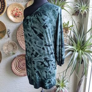 Young Fabulous & Broke M Green Tie Dye Boho Dress